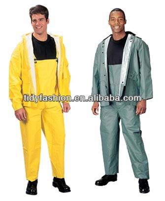 Adult Waterproof Plastic Rain Bib Pants