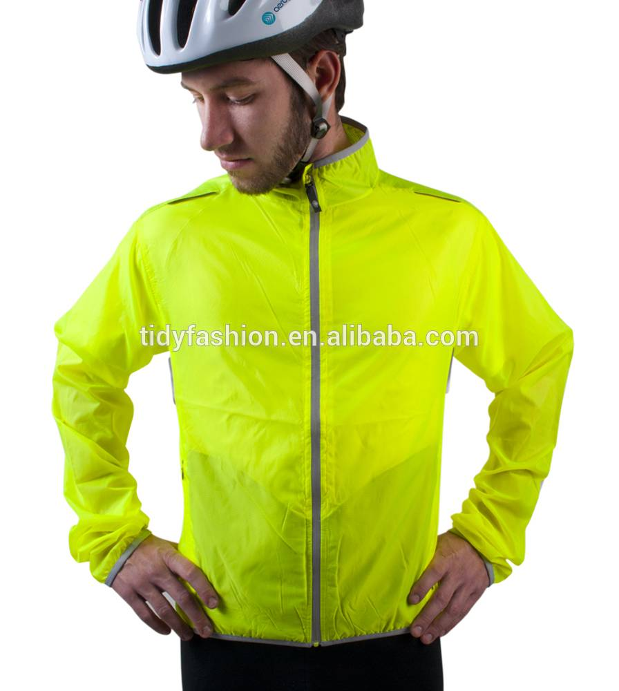 Visibility Yellow Custom Windbreaker For Biker