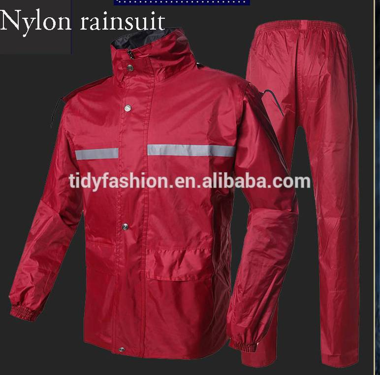 Reversible Nylon or Polyester Reflective Rainsuit
