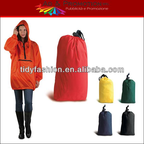 Waterproof Hooded Lightweight Jacket Raincoat In Bag