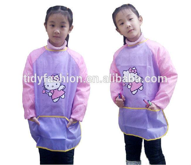 Manufacturing Companies for Apron Embroidery - Waterproof Custom Design Kids Drawing Polyester School Apron – Tidy