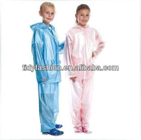 PVC Raincoat Sets For Kids, Transparent Rainsuit
