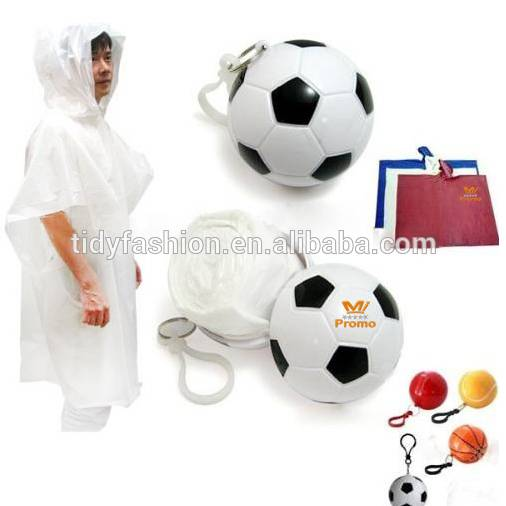 Wholesale Disposable Emergency Poncho Bulk With Football