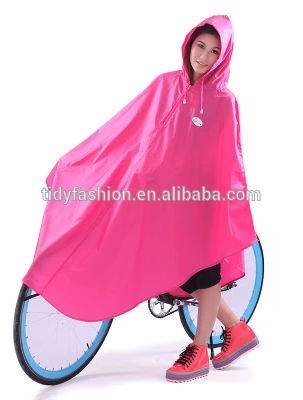 Fashionable Pink PVC Poncho Raincoat Bike