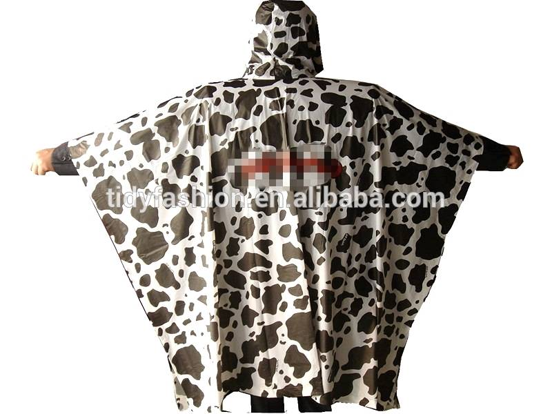 Wholesale Hooded Waterproof PVC Rain Poncho