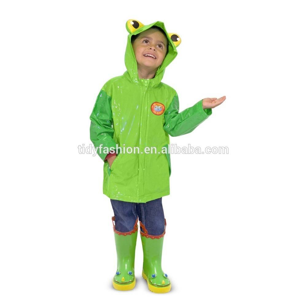 Hooded Animal PVC Raincoats for Kids