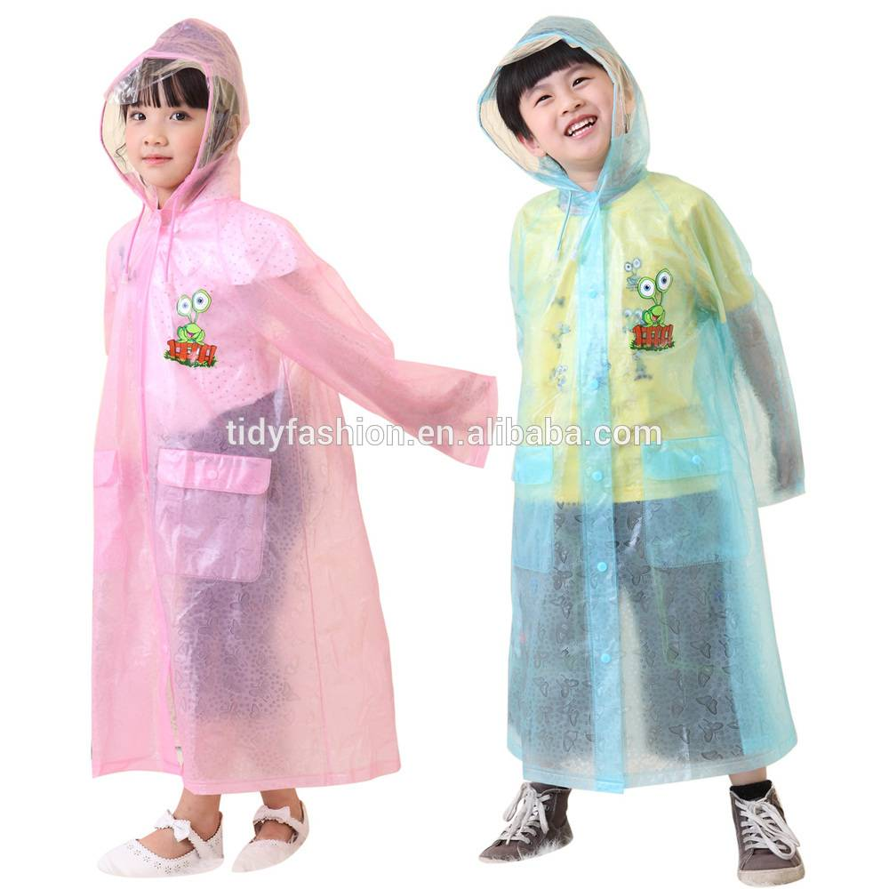 Apple Printed Girls Poncho Raincoat Promotional