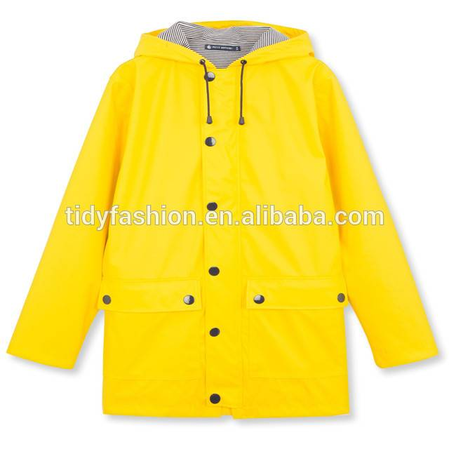 8 Year Exporter Packable Rain Jacket - Fashion Waterproof Ladies PU Raincoat Jacket – Tidy