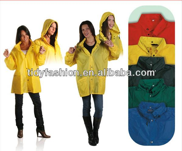 Waterproof Women Lightweight Polyester Rain Jacket