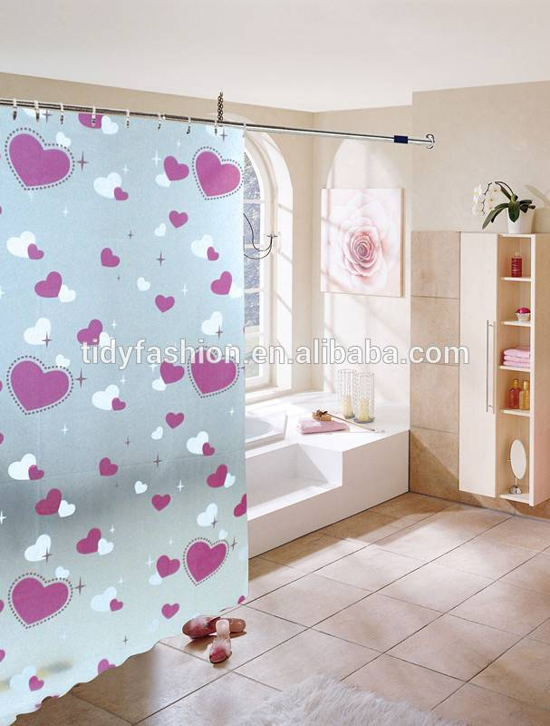Custom Plastic Folding PVC Shower Curtain