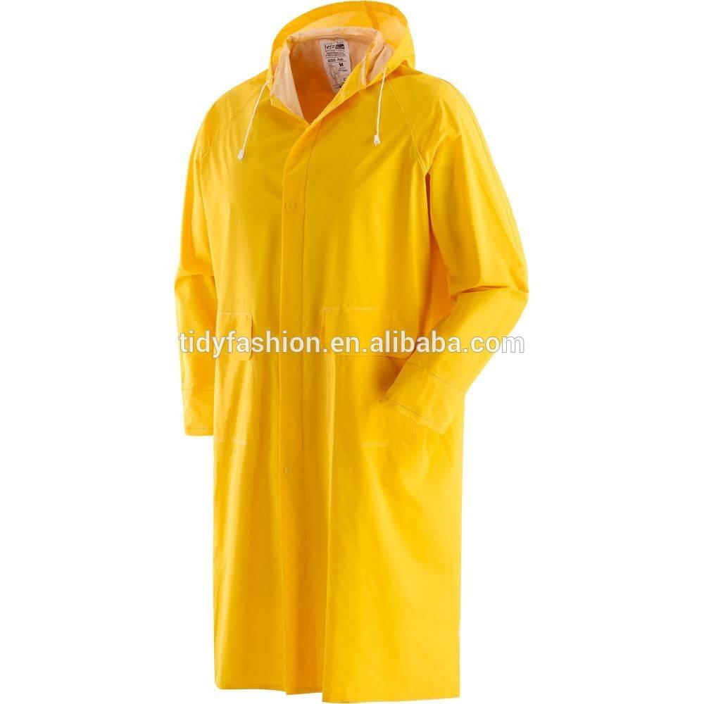 Long Hooded Waterproof Raincoat For Men