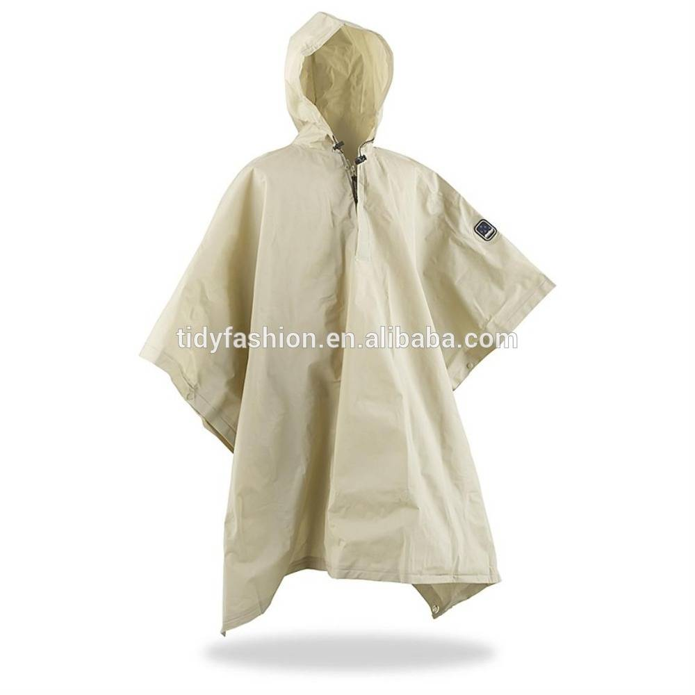 High Quality Waterproof Polyster Rain Ponchos with Logo