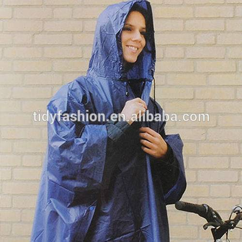 Waterprooof Custom Printed Plastic PVC Bike Rain Poncho