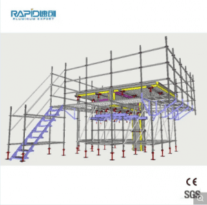 Steel Aluminum Ringlock Frame Scaffolding Used for Construction