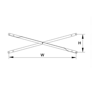 Double Holes or Single Hole Angle Cross Brace