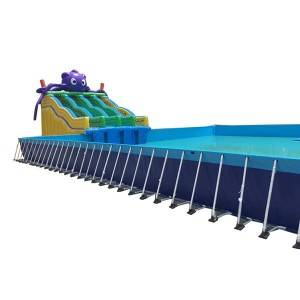 Factory Promotional Deep Above Ground Swimming Pools - Collapsible Swimming Pool – Rongda