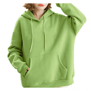 Custom high quality women plain oversized pullover hoodies