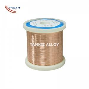 China Factory for Alloy 750 - Copper nickel alloy CuNi14 Heating wire Used for Heating cable – TANKII