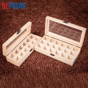 Manufactur standard Stackable Wooden Boxes - Personalized Wooden Box With Clear Lid Wood  – Reyoung