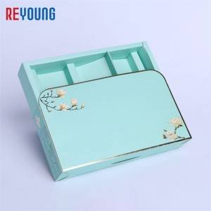 factory sale light blue rigid drawer  box with tray
