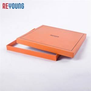 Factory wholesale Macaron Gift Box - China supplier orange cardboard paper box with lid – Reyoung