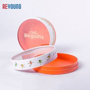 luxury  paper food packing can  with transparent lid