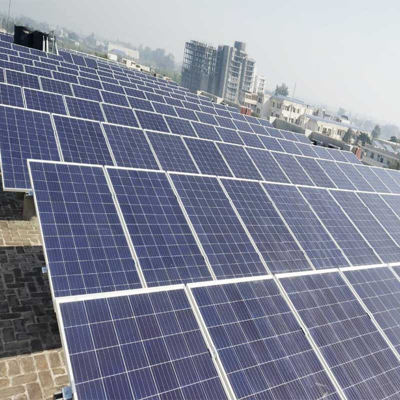 120kW rooftop solar plant has been installed in India