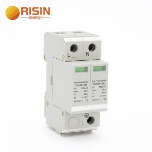 China wholesale Miniature Circuit Breaker - Solar Power Surge Protection Device 60KA AC Surge Lighting Arrester SPD – RISIN