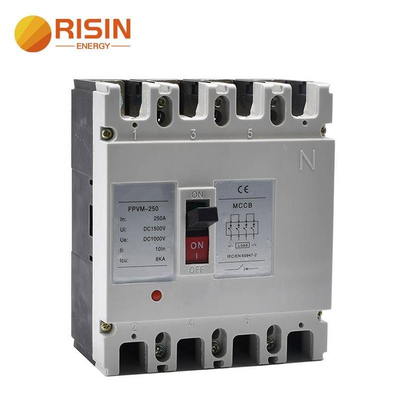 550V 750V 1000V 125A 160A 250A DC MCCB Moulded Case Circuit Breaker