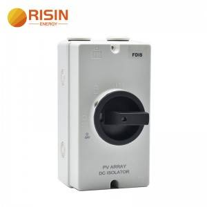 Good Quality Dc Circuit Breaker - 1000V 32A Waterproof DC Isolator Switch SISO for Solar PV Array – RISIN