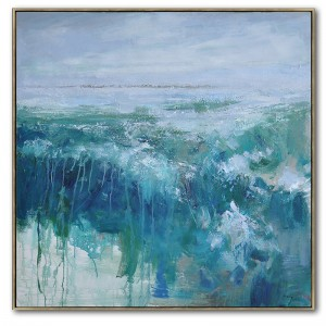 Cheapest Factory Beach Canvas Prints - Extra Large Ocean Modern Art Oil Painting #RG20209 – Royi Art