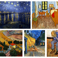 The first painting of Van Gogh' s to feature his remarkable rendering of starry skies