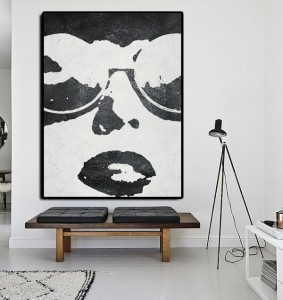 Bottom price Wooden Decorative Frames - white black figure art painting #RG2014WB – Royi Art