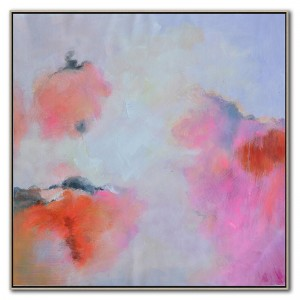 Factory Free sample Silk Wallpaper - Contemporary Pink Art Oil Painting on canvas #RG20211 – Royi Art