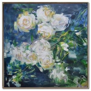 Hot-selling Simple Wood Frame - Contemporary Flower Art Oil Painting on canvas #RG20210 – Royi Art