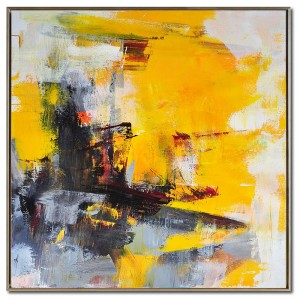 Best-Selling Abstract Art Simple - Handmade Modern Abstract Yellow Art Painting #RG20204 – Royi Art