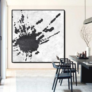 PriceList for Wooden Plate Frames - Minimal White and Black Art Abstract Painting #RG2001WB – Royi Art