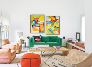 Set of 2 large contemporary original artwork oil painting#RG20264 Modern Abstract