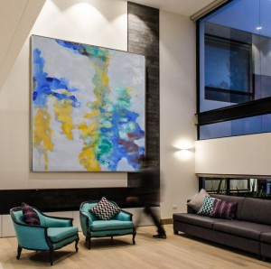Large colorful hand painted contemporary oil painting on canvas RG20270 Modern Abstract