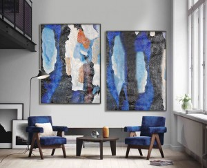 Set of 2 handmade abstract modern wall art decoration oil painting RG20279 Modern Abstract