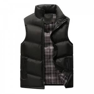 High-quality mens down vest to keep warm and thick