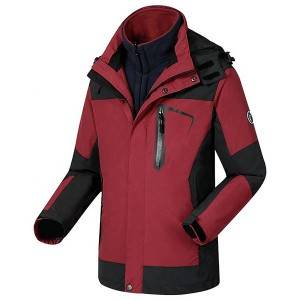 Womens 3 in 1 rain jacket Custom OEM outdoor clothing waterproof jaket