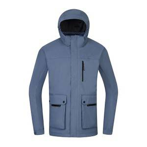 MenS 3 in 1 rain jacket Custom OEM outdoor clothing waterproof jaket
