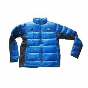 Boy's down jacket is comfortable and warm