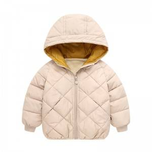 Baby hooded lightweight down jacket