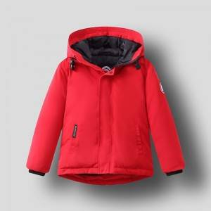 Baby hooded padded duck down jacket