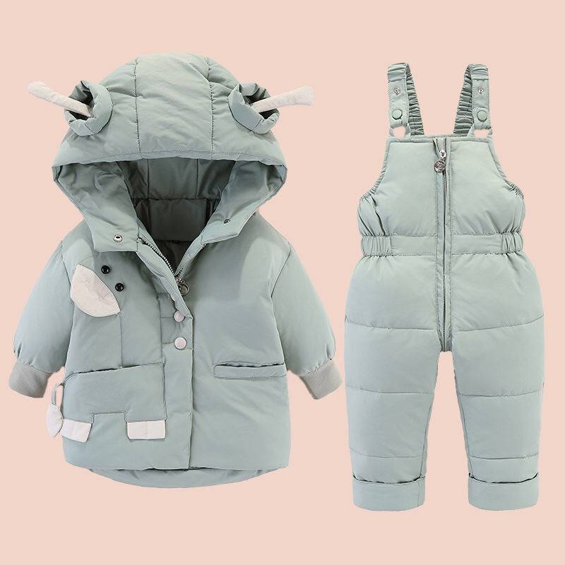 OEM/ODM China Kids T Shirt - Children's hooded jumpsuit padded duck down and down suit – Ruisheng