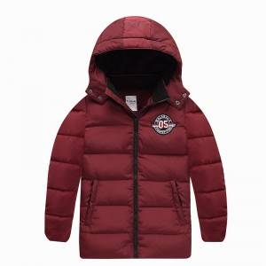 Boys hooded winter padded down jacket