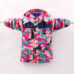 Boys and girls printed winter thick duck down jacket