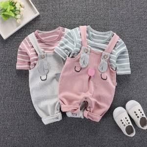 Factory Cheap Hot Feeding Bibs - Newborn baby spring and autumn outing clothes – Ruisheng